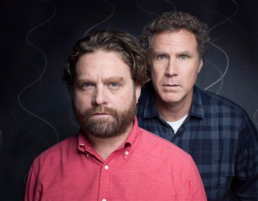 This July 27, 2012 photo shows actors Zach Galifianakis, left, and Will Ferrell pose for a portrait in New York. (Photo by Victoria Will//Invision/AP)