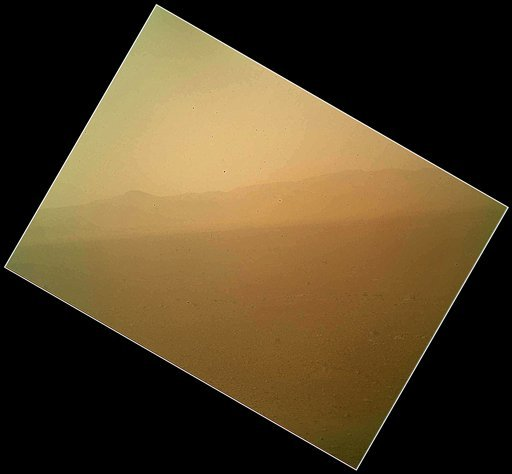 © This image released on Tuesday Aug. 7,2012 by NASA shows the first color view of the north wall and rim of Gale Crater where NASA's rover Curiosity landed Sunday night.