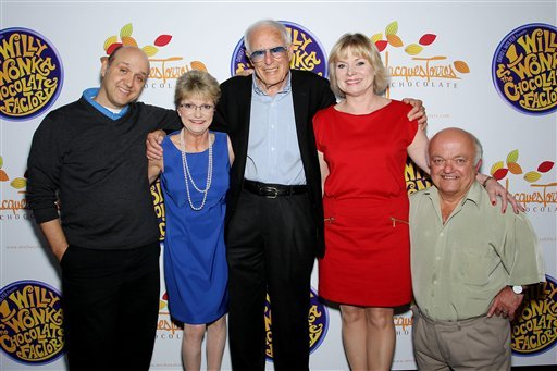 """FILE - This Oct. 18, 2011 file photo originally released by Starpix shows the cast and director from the 1971 film, """"Willy Wonka & The Chocolate Factory."""