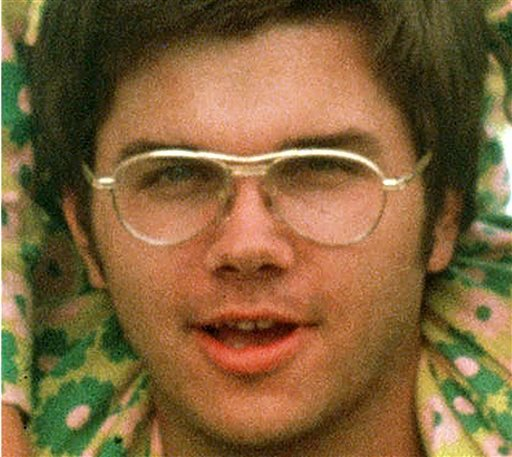 © FILE - 1975 file photo of Mark David Chapman. New York Department of Corrections spokeswoman Linda Foglia says Chapman, who shot former Beatle John Lennon to death in 1980, is scheduled to be interviewed  by members of the parole board.