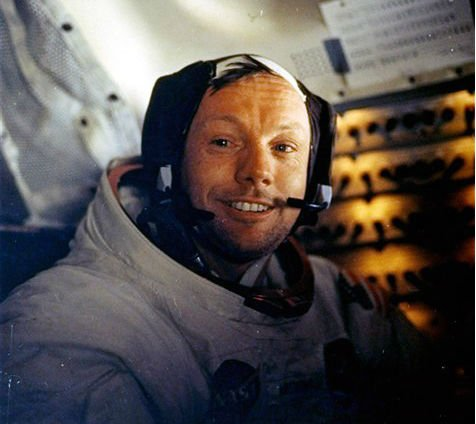 © This July 20, 1969 file photo provided by NASA shows Neil Armstrong. The family of Neil Armstrong, the first man to walk on the moon, says he has died at age 82.