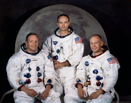 © FILE - In this 1969 photo provided by NASA the crew of the Apollo 11 mission is seen.