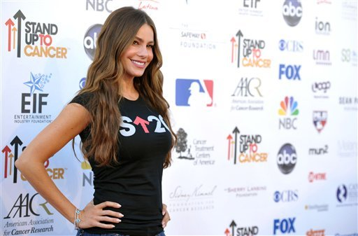 "Actress Sofia Vergara attends the ""Stand Up to Cancer"" event at the Shrine Auditorium on Friday, Sept. 7, 2012 in Los Angeles. The initiative aimed to raise funds to accelerate innovative cancer research by bringing new therapies to patients quickly."