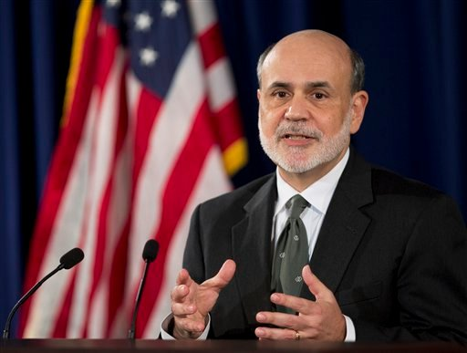 Federal Reserve Chairman Ben Bernanke speaks during a news conference in Washington, Thursday, Sept. 13, 2012, following the Federal Open Market Committee meeting to present the FOMC's current economic projections. (AP Photo)