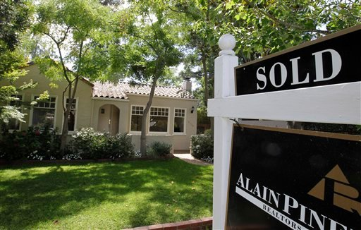 This Tuesday, Aug. 21, 2012, photo, shows an exterior view of a home sold in Palo Alto, Calif. (AP Photo/Paul Sakuma)