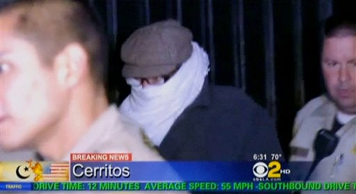 In this Sept. 15, 2012 file image from video provided by CBS2-KCAL9, Nakoula Basseley Nakoula, the man behind a crudely produced anti-Islamic video that has inflamed parts of the Middle East. (AP Photo/CBS2-KCAL9, File)