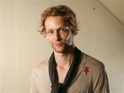 This Sept. 14, 2011 file photo shows actor Johnny Lewis posing for a portrait during the 36th Toronto International Film Festival in Toronto, Canada. (AP Photo/Carlo Allegri, file)