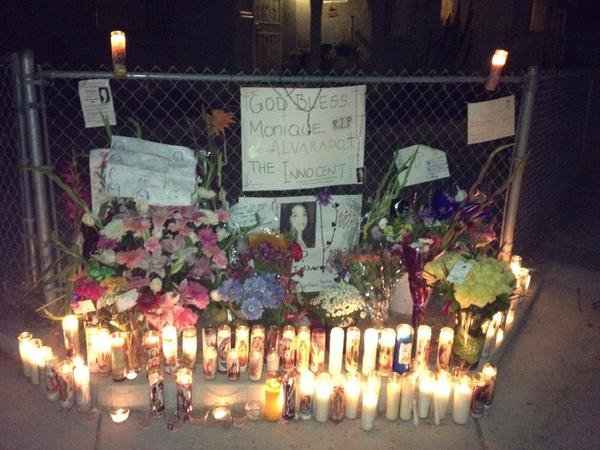 "© Vigil held Monday for Valeria ""Monique"" Alvarado. Photo taken by News 8's Shannon Handy."