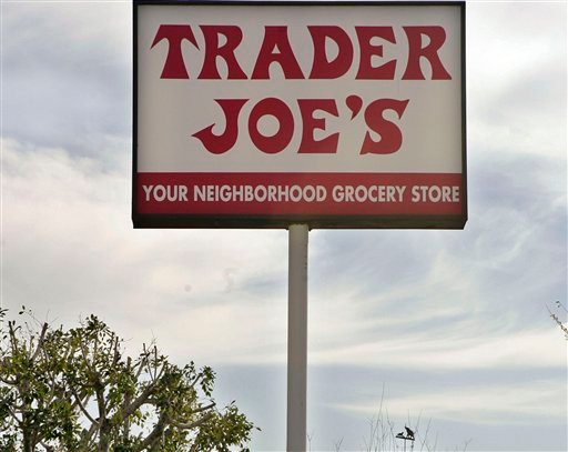 In this Feb. 11, 2008 file photo, a customer departs Trader Joe's in Los Angeles. The grocery store chain Trader Joe's is recalling peanut butter that has been linked to 29 salmonella illnesses in 18 states Sept. 22, 2012 (AP Photos/Ric Francis, File)