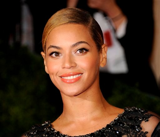 This May 7, 2012 file photo shows Beyonce Knowles at the Metropolitan Museum of Art Costume Institute gala benefit, celebrating Elsa Schiaparelli and Miuccia Prada in New York. (AP Photo/Evan Agostini, file)