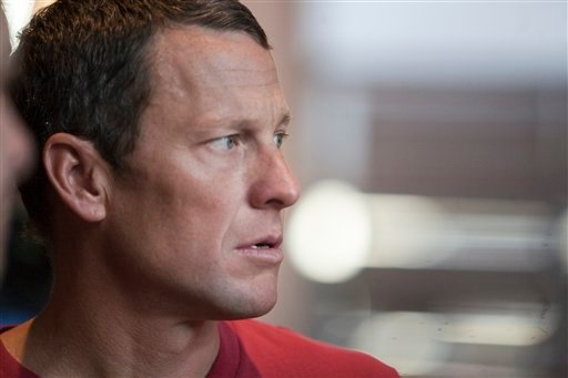 The Feb. 15, 2011 file photo shows US cyclist Lance Armstrong during an interview in Austin, Texas. UCI, the cycling governing body, agreed Monday, Oct. 22, 2012 to strip Lance Armstrong of his seven Tour de France titles. (AP Photo/Thao Nguyen)