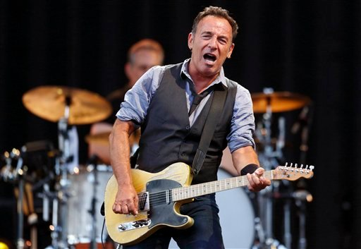 FILE - This Aug. 14, 2012 file photo shows Bruce Springsteen performing at Fenway Park in Boston. (AP Photo/Michael Dwyer, file)