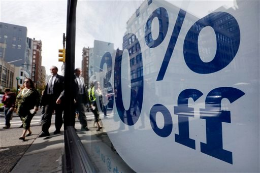 In this Wednesday, Oct. 17, 2012, photo, people shop on Wednesday, Oct. 17, 2012, in Philadelphia. Americans' confidence in the economy surged in October to the highest level in nearly five years, as many were encouraged by an improving job market. (AP)