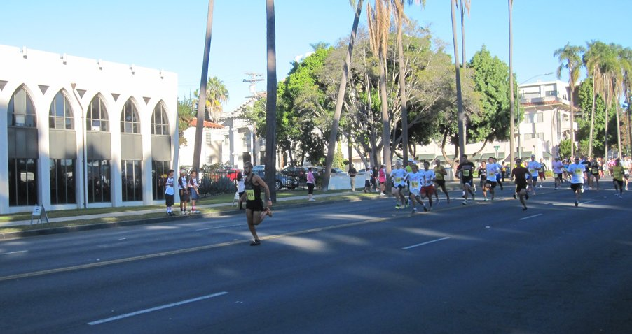 © The race began at 8 a.m., participants run/walk down Sixth Avenue near Balboa Park.
