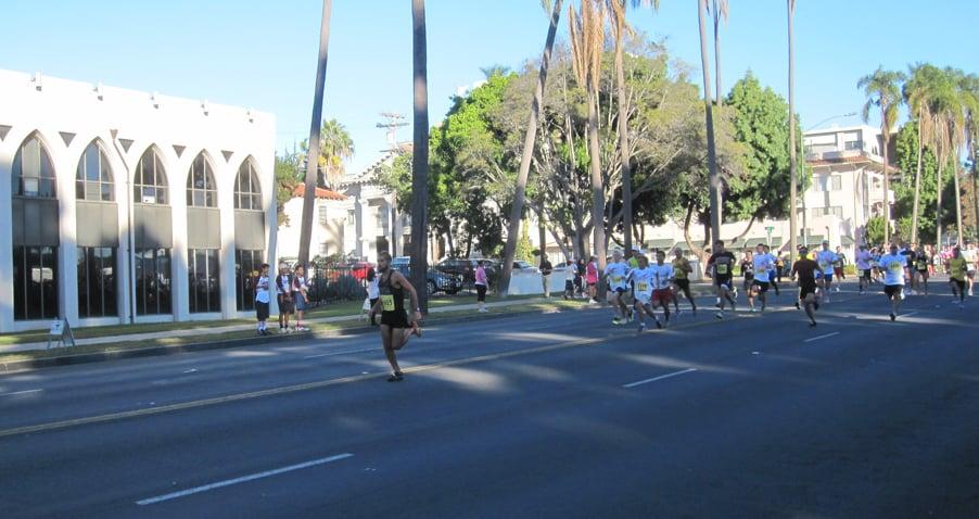 © The race began at 8 a.m., participants run/walk down Sixth Avenue near Balboa Park.