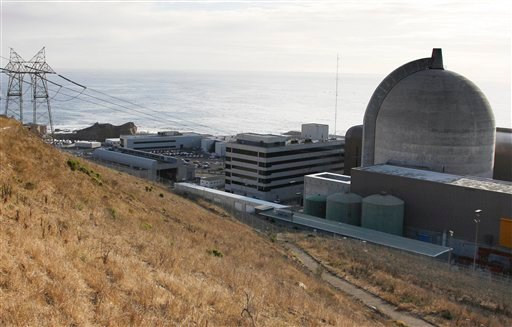This Monday Nov. 3,2008 file photo shows one of Pacific Gas and Electric's Diablo Canyon Power Plant's nuclear reactors in Avila Beach on California's central coast. (AP Photo/Michael A. Mariant, File)