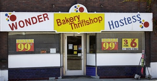  The Wonder Hostess Bakery Thriftshop is shown at the Utah Hostess plant in Ogden, Utah, Thursday, Nov. 15, 2012.
