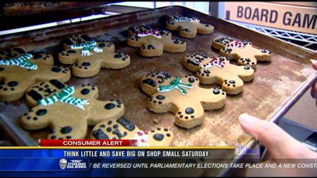 Dog cookies featured at Paw Pleasers in North Park.