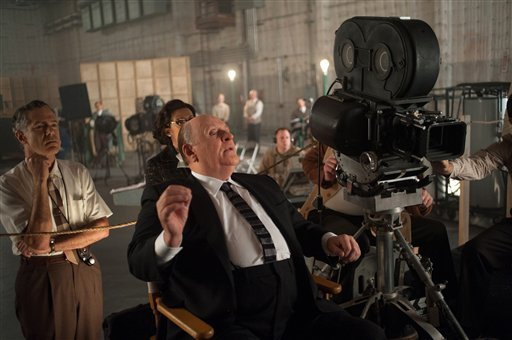 "This publicity film image released by Fox Searchlight shows Anthony Hopkins as Alfred Hitchcock in ""Hitchcock."" (AP Photo/Fox Searchlight, Suzanne Tenner, File)"