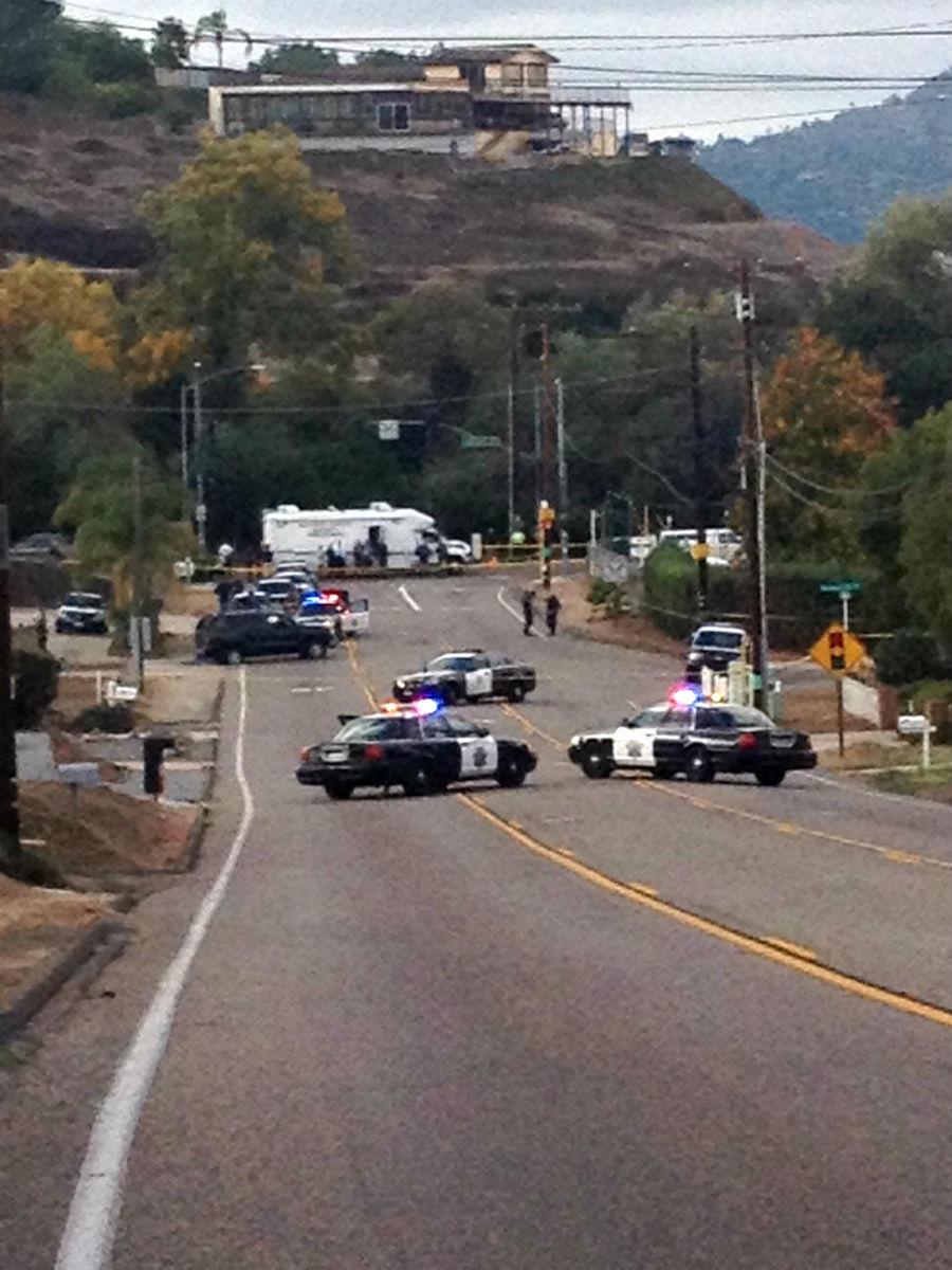 © Officer-involved shooting at La Cresta Rd. in El Cajon. Photo courtesy Nicole.
