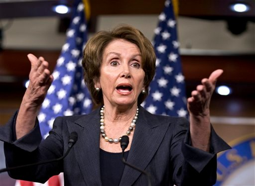 © House Minority Leader Nancy Pelosi of Calif., gestures as she speaks during a news conference on Capitol Hill in Washington, Thursday, Dec. 6, 2012.