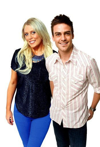 © In this undated supplied publicity photo 2 Day FM radio presenters Mel Greig, left, and Michael Christian pose. Greig and Christian during their radio program Tuesday, Dec. 4, 2012, impersonated Britain's Queen Elizabeth II and the Prince of Wales.