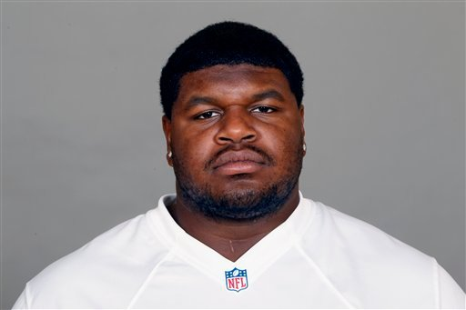 © In this 2012 file photo, Josh Brent of the Dallas Cowboys NFL football team is shown. Brent is facing an intoxication manslaughter charge after a one-vehicle accident that killed teammate Jerry Brown, a member of the team's practice squad.