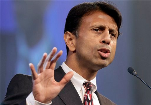 © In this Friday, July 27, 2012 file photo, Louisiana Gov. Bobby Jindal speaks at a Republican Party of Arkansas fundraising dinner in Hot Springs, Ark.