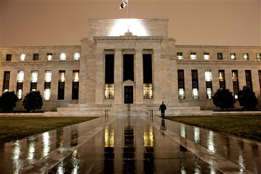 © This March 27, 2009, file photo, shows the Federal Reserve Building on Constitution Avenue in Washington.