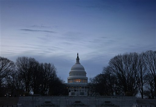 The U.S. Capitol in Washington is seen at dawn, Wednesday, Dec. 12, 2012. (AP Photo/J. Scott Applewhite)