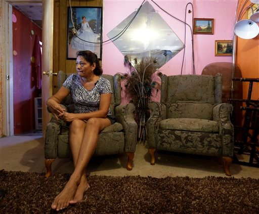 Sonia Limas, an illegal immigrant, talks about her health care situation at her home, Thursday, Sept. 6, 2012, in Alamo, Texas.