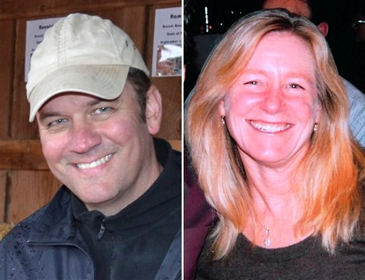 This combo made from undated photos released by the Clackamas County Sheriff's Dept. shows Oregon mall shooting victims shows Steven Mathew Forsyth, 45, of West Linn, Ore., left, and Cindy Ann Yuille, 54, of Portland, Ore.