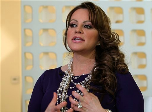FILE - In this March 8, 2012, file photo, Mexican-American singer and reality TV star Jenni Rivera speaks during an interview in Los Angeles. (AP Photo/Reed Saxon, file)