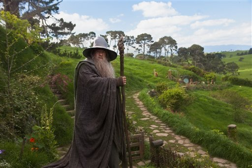 """© This film image released by Warner Bros., shows Ian McKellen as Gandalf in a scene from the fantasy adventure """"The Hobbit: An Unexpected Journey."""""""