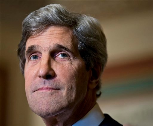 © This Dec. 3, 2012 file photo shows Senate Foreign Relations Chairman Sen. John Kerry, D-Mass., at a news conference on Capitol Hill in Washington.