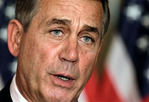 © In this July 30, 2011, file photo, House Speaker John Boehner, R-Ohio, speaks at a news conference on Capitol Hill in Washington.