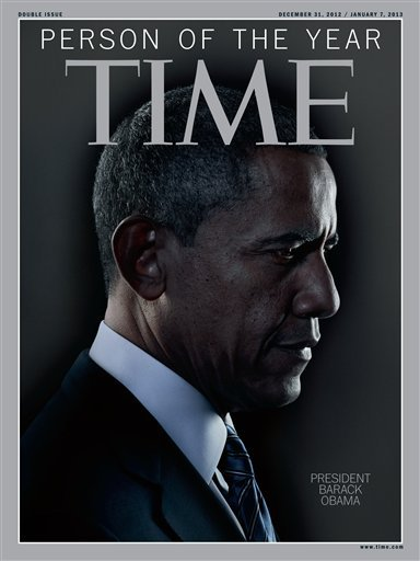 In this image released Wednesday, Dec. 19, 2012 in New York by Time Inc., President Barack Obama is Time Magazine's Person of the Year.  (AP Photo/Time Magazine)