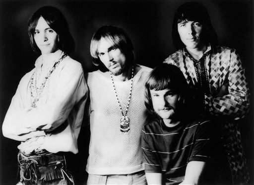 © This April 9, 1969 photo shows members of Iron Butterfly, from left, Erik Brann, Ron Bushy, Lee Dorman, and Doug Ingle. Dorman, the bassist for psychedelic rock band, has died at age 70. (Copyright Bettmann/Corbis/AP Images)