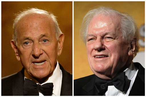 © This combination of Associated Press file photos shows, Jack Klugman, left, speaking at the 62nd Annual Tony Awards in New York on June 15, 2008 and Charles Durning, right, during the 14th Annual Screen Actors Guild Awards in Los Angeles.