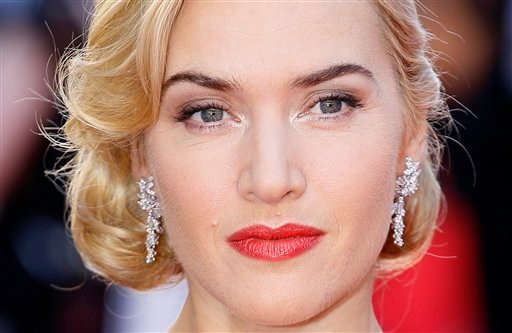 FILE - In this Tuesday, March, 27, 2012, file photo, British actress Kate Winslet arrives at the World Premiere of Titanic 3D at the Royal Albert Hall in London. (AP)