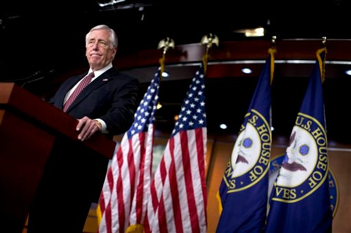 House Minority Whip Rep. Steny Hoyer of Md., pauses during a news conference on Capitol Hill in Washington, Thursday, Dec. 27, 2012. (AP)