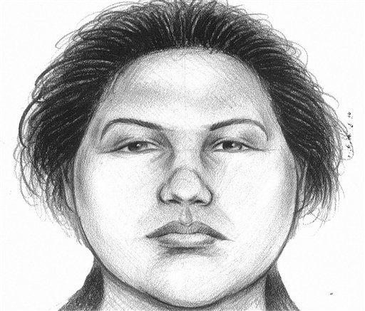 In this image provided by the New York City Police Department, a composite sketch showing the woman believed to have pushed a man to his death in front of a subway train on Thursday, Dec. 27, 2012 is shown. (AP Photo/New York City Police Department)