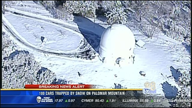 100 Vehicles Trapped By Snow On Palomar Mountain Cbs