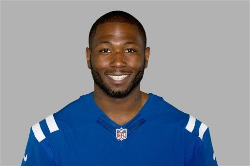 This 2012 file photo shows NFL football player Jerry Brown, then of the Indianapolis Colts.