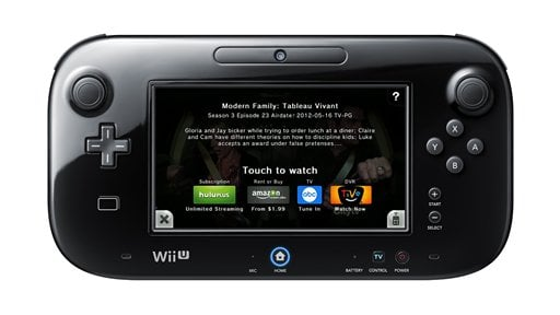 © This undated product image released by Nintendo of America shows a Nintendo Wii U GamePad running Nintendo TVii.
