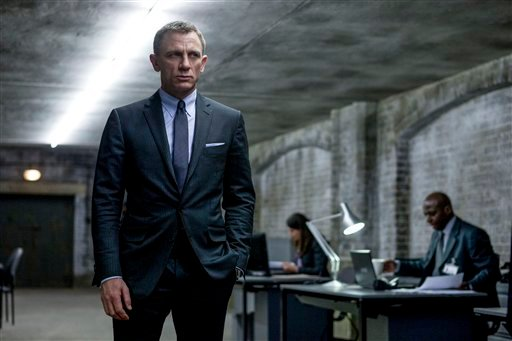 "This film image released by Sony Pictures shows Daniel Craig in a scene from the film ""Skyfall."" Telecast producers of the 85th Academy Awards say the show will feature a celebration of the 50th anniversary of James Bond."