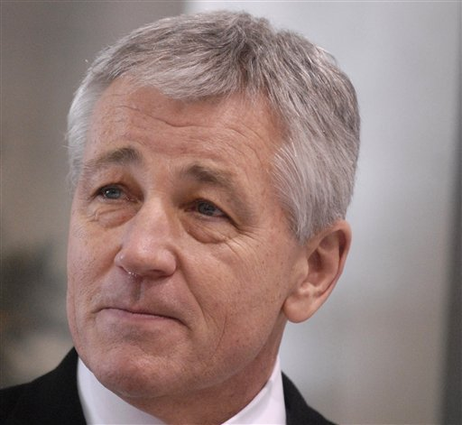 © This Dec, 18, 2008 file photo shows then-Nebraska Sen. Chuck Hagel in Omaha, Neb. President Barack Obama will nominate Hagel as his next defense secretary, a senior administration official said Sunday, Jan. 6, 2013.