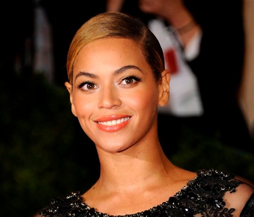 This May 7, 2012 file photo shows Beyonce Knowles at the Metropolitan Museum of Art Costume Institute gala benefit in New York. (AP Photo/Evan Agostini, File)