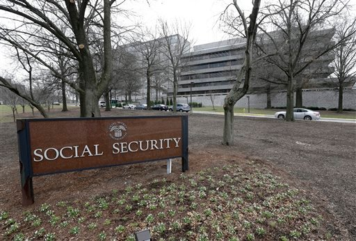 The Social Security Administration's main campus is seen in Woodlawn, Md., Friday, Jan. 11, 2013. (AP Photo/Patrick Semansky)