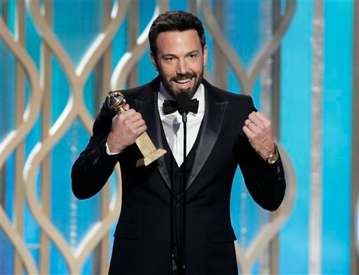 "© This image released by NBC shows Ben Affleck with his award for best director for ""Argo"" during the 70th Annual Golden Globe Awards at the Beverly Hilton Hotel on Jan. 13, 2013, in Beverly Hills, Calif."
